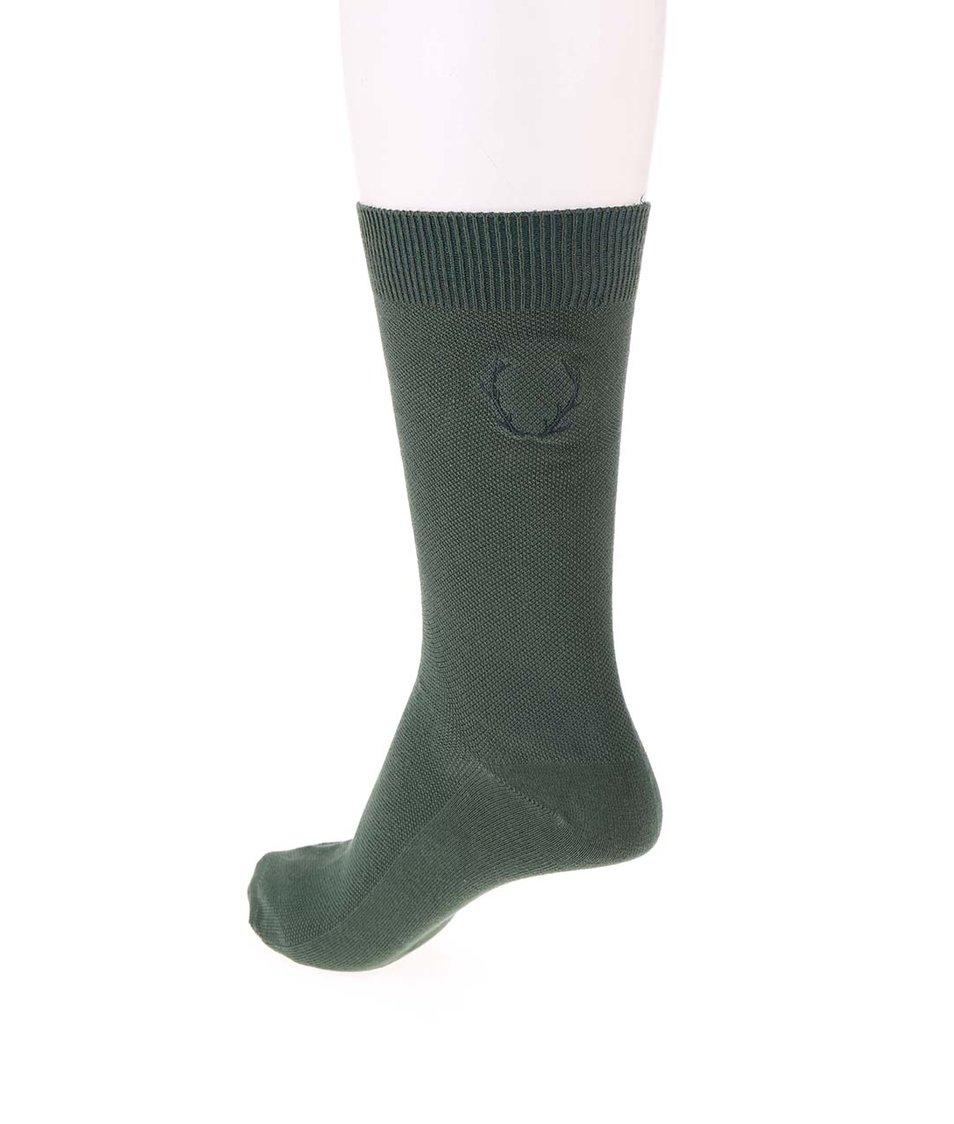 Zelené ponožky Jack & Jones Waffel