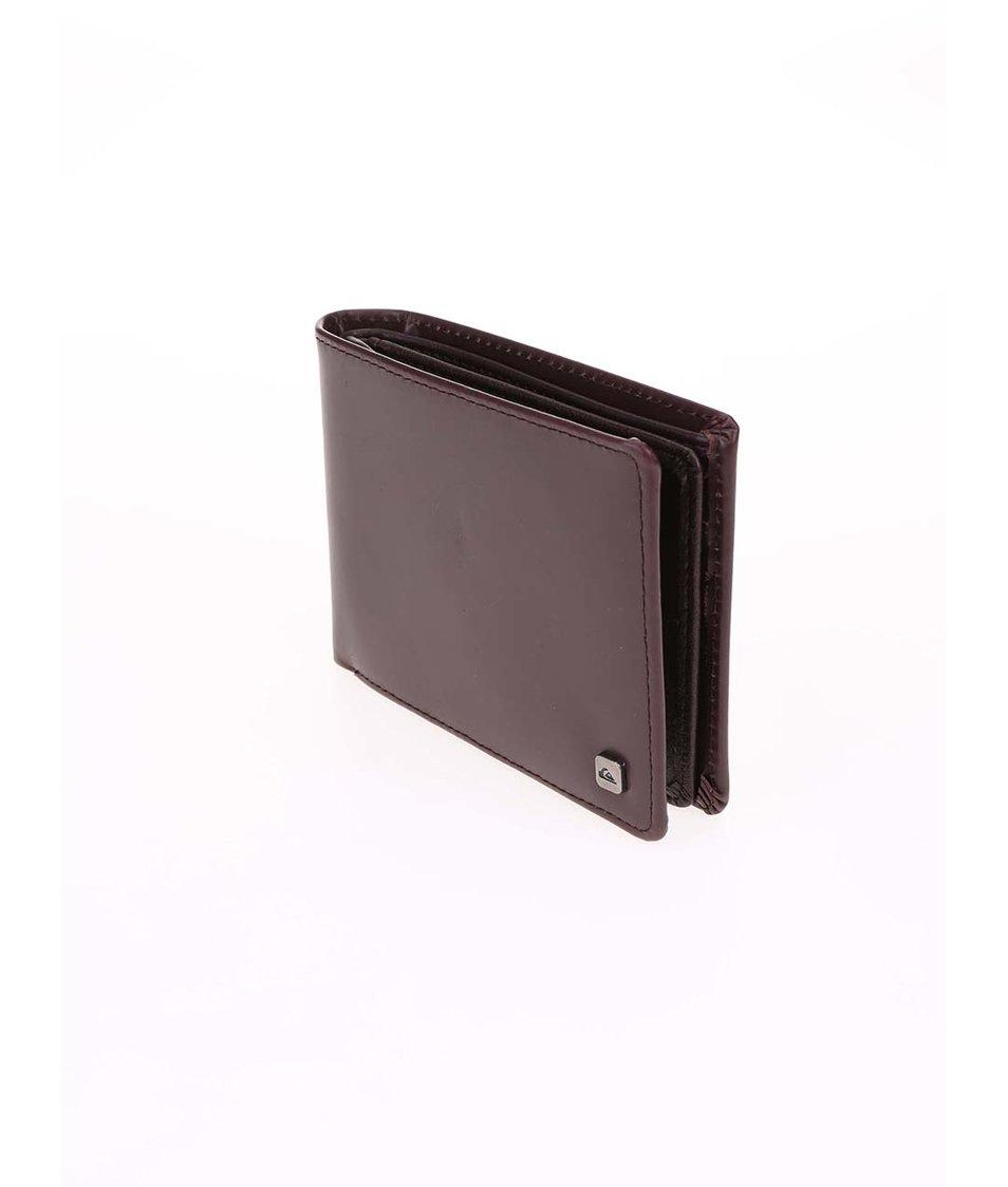 Hnědá kožená peněženka Quiksilver Macking