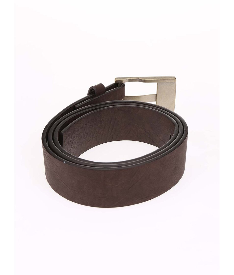 Hnědý koženkový pásek Quiksilver Jazz Street