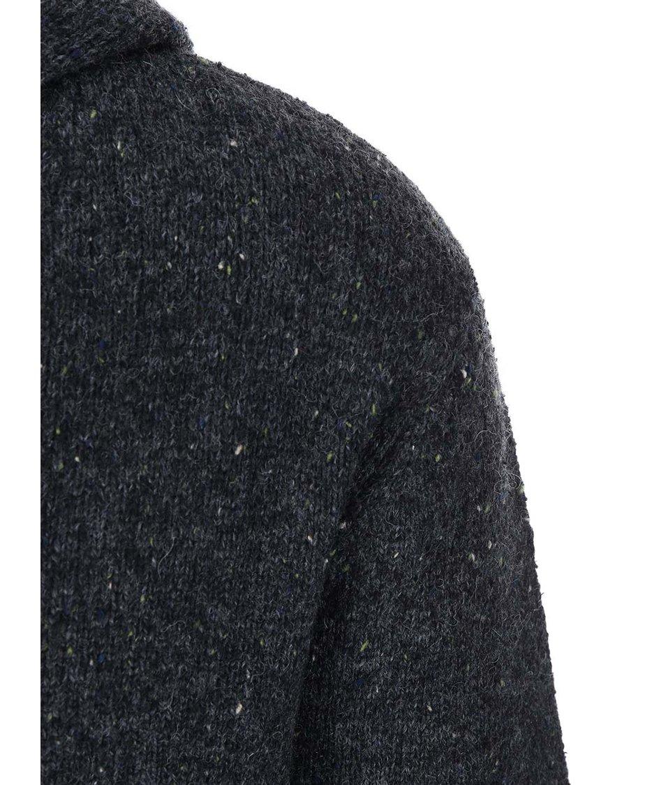 Modrošedý svetr s kapucí Quiksilver Tamworth