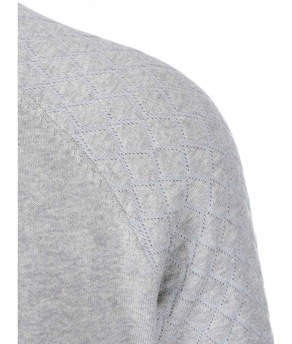 Šedý svetr s prošívanými rukávy ONLY & SONS Bay