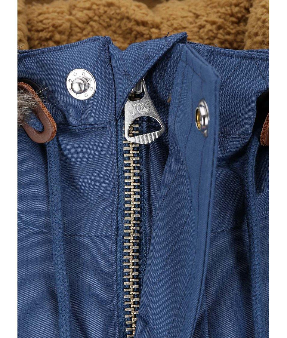 Modrá bunda s kožešinou Quiksilver Arris