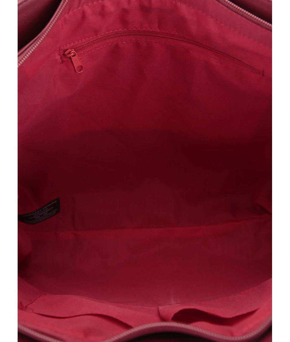 Červená kabelka s vínovými detaily Dorothy Perkins