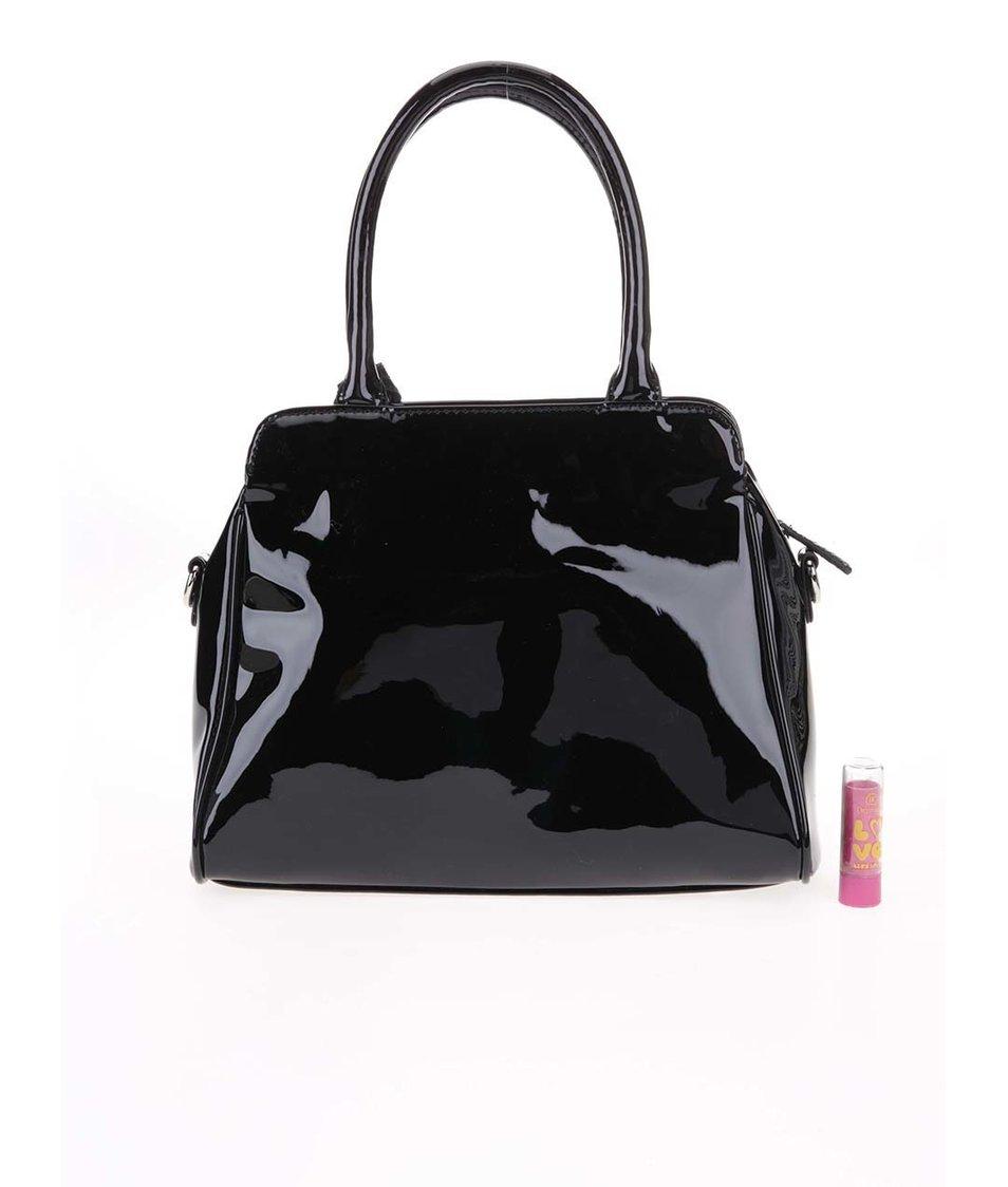 Černá lesklá kabelka Clarks Marley May