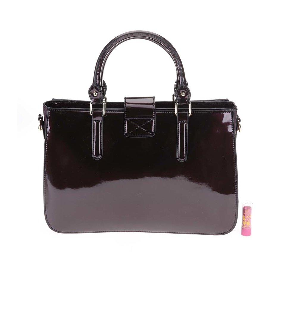 Vínová lakovaná kabelka Clarks Miss Chantal