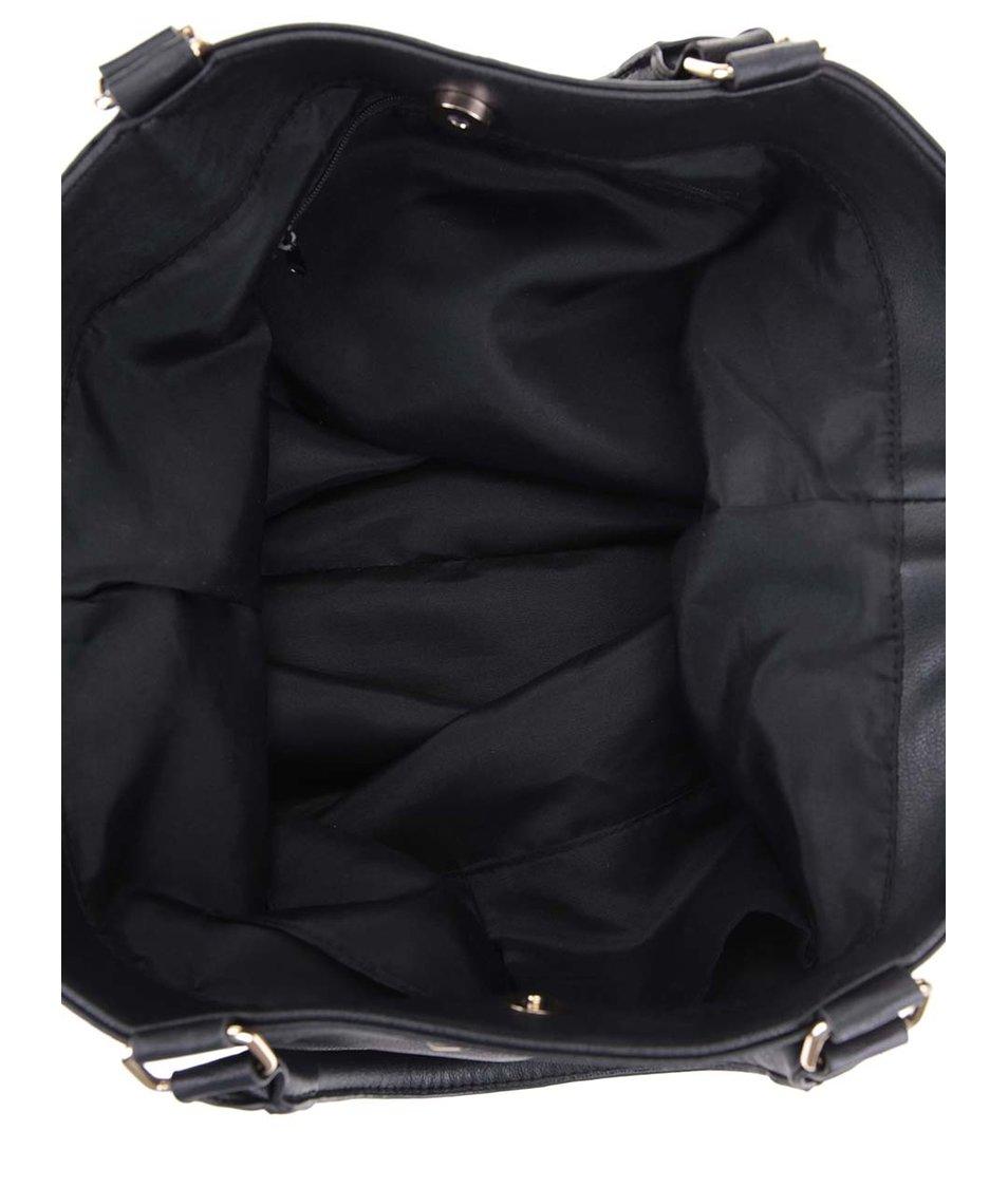Černá větší kabelka s detaily ve zlaté barvě Dorothy Perkins