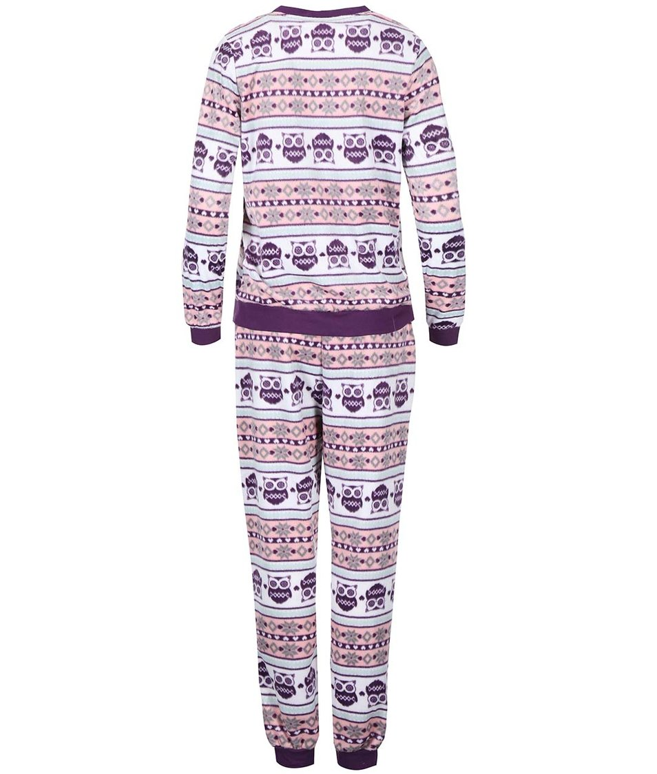 Fialové pyžamo se sovičkami Dorothy Perkins