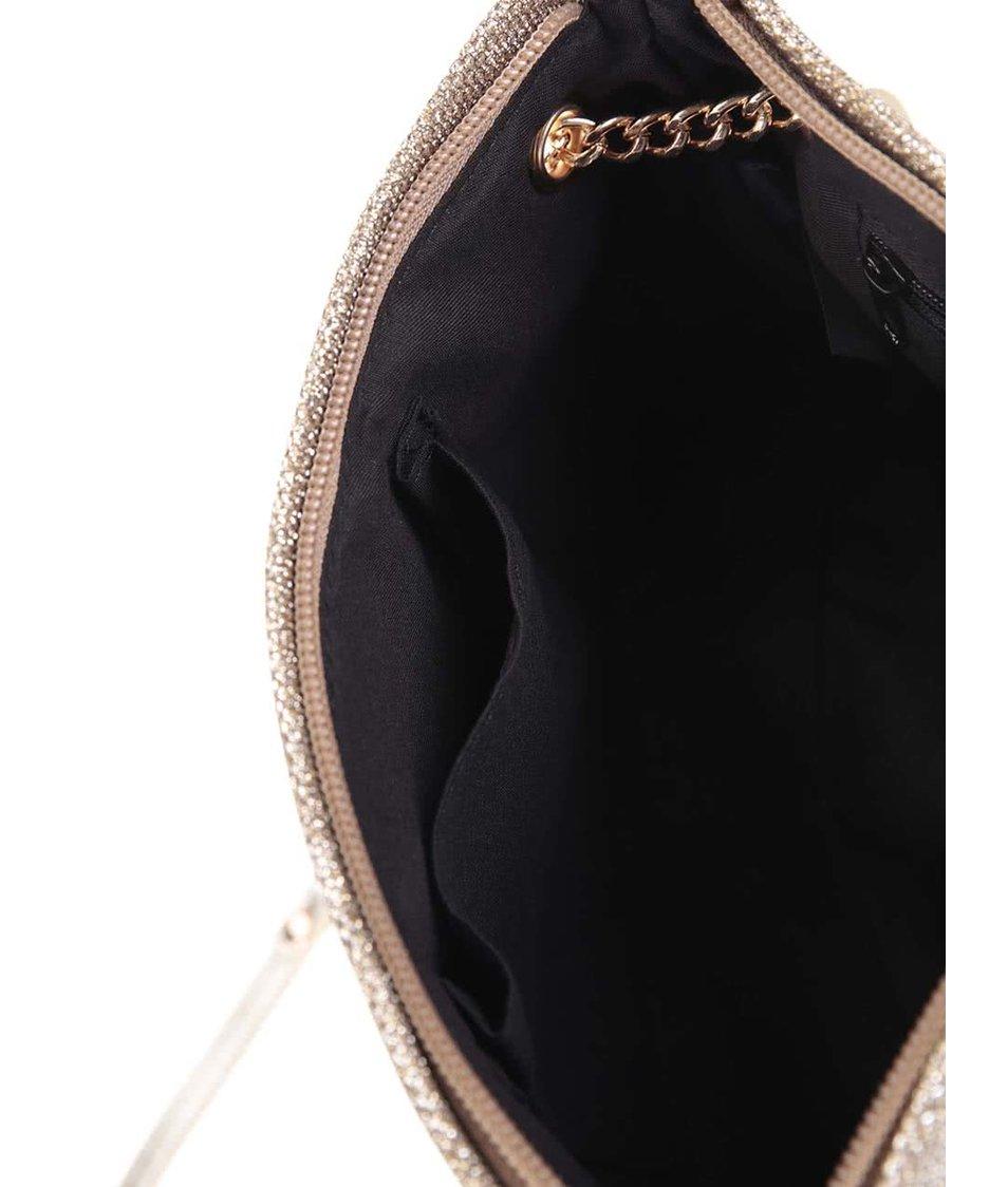 Třpytivá malá kabelka ve zlaté barvě Dorothy Perkins