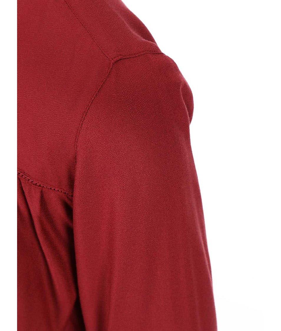 Červená halenka s dlouhým rukávem Dorothy Perkins