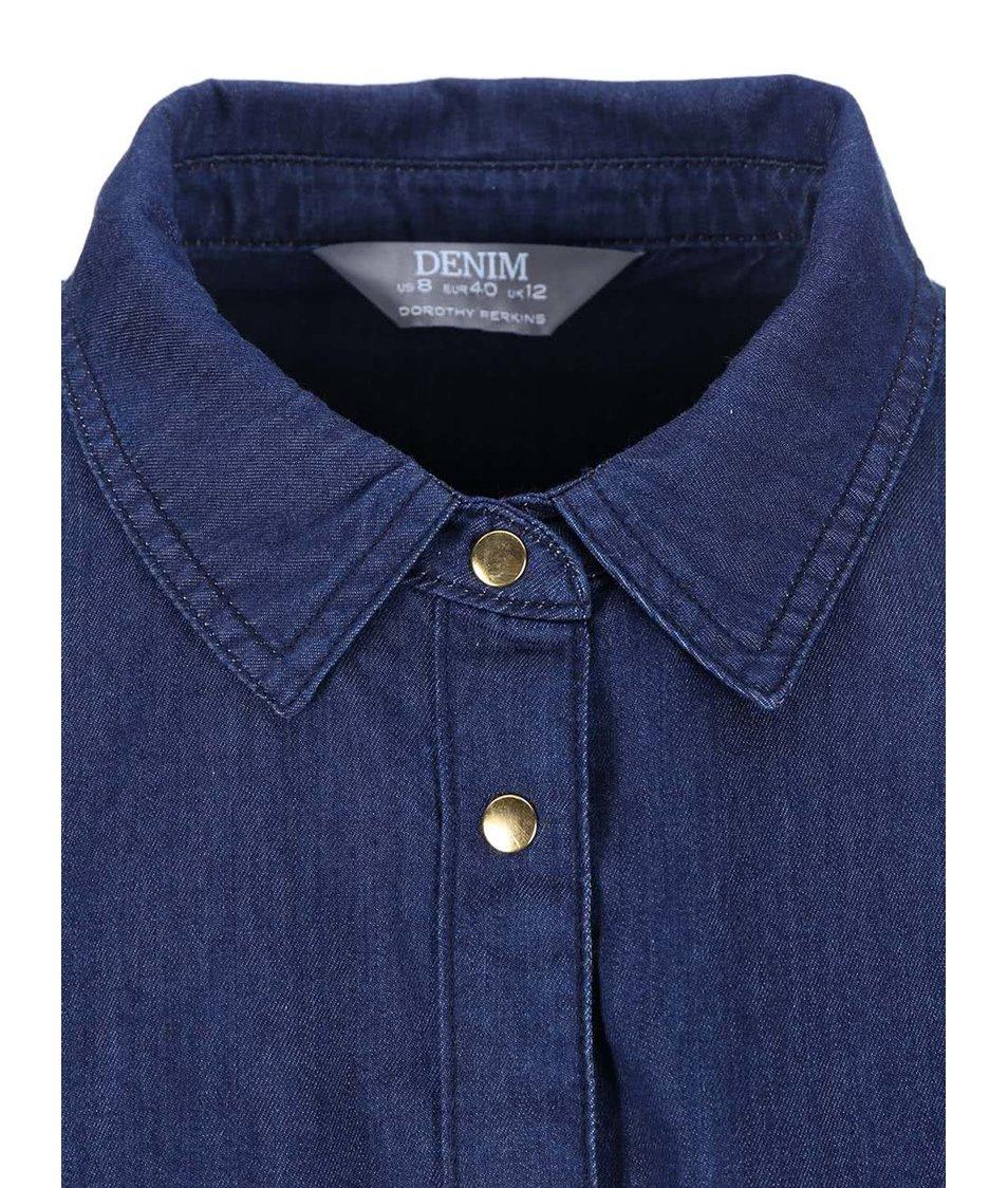 Tmavě modrá denimová košile Dorothy Perkins