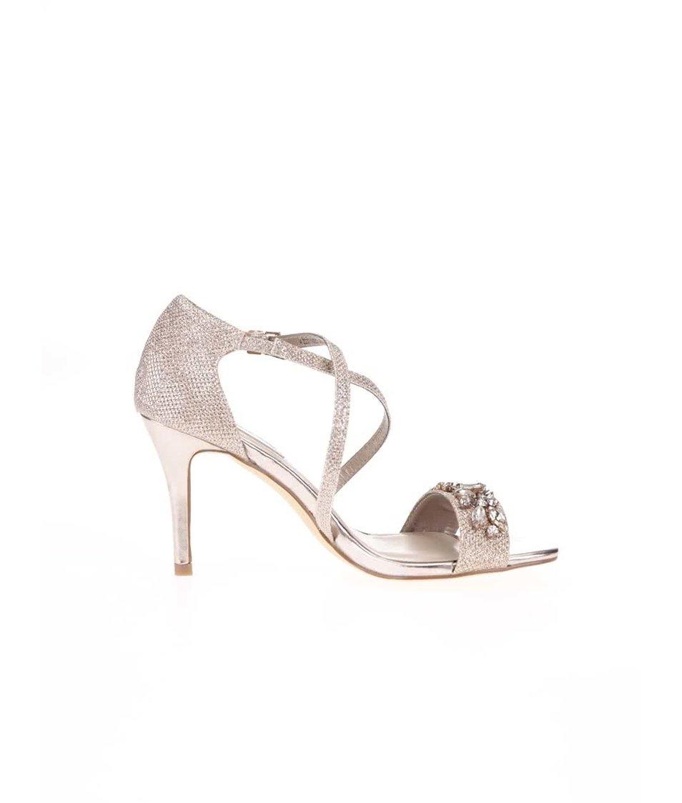Sandálky na podpatku ve zlaté barvě Dorothy Perkins Bliss