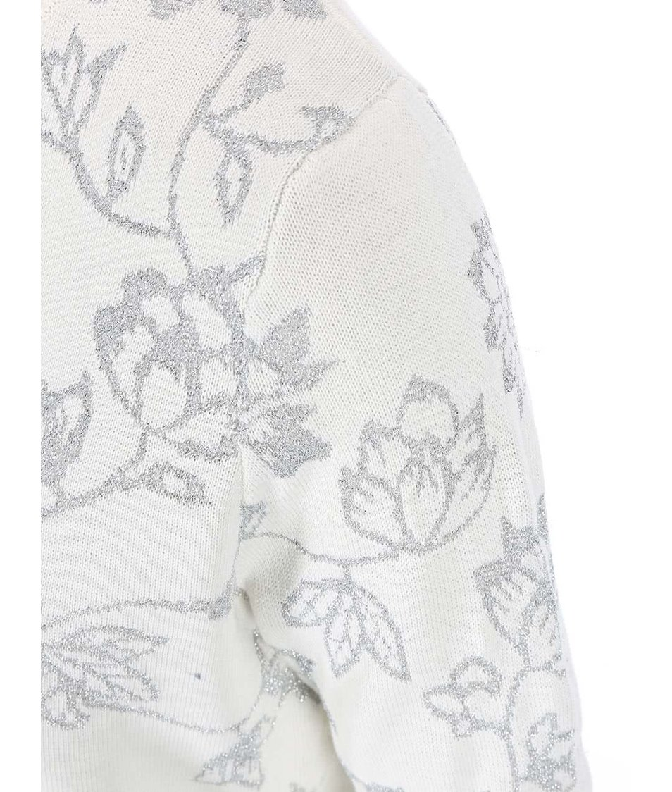 Krémový svetr s třpytivými vzory Dorothy Perkins