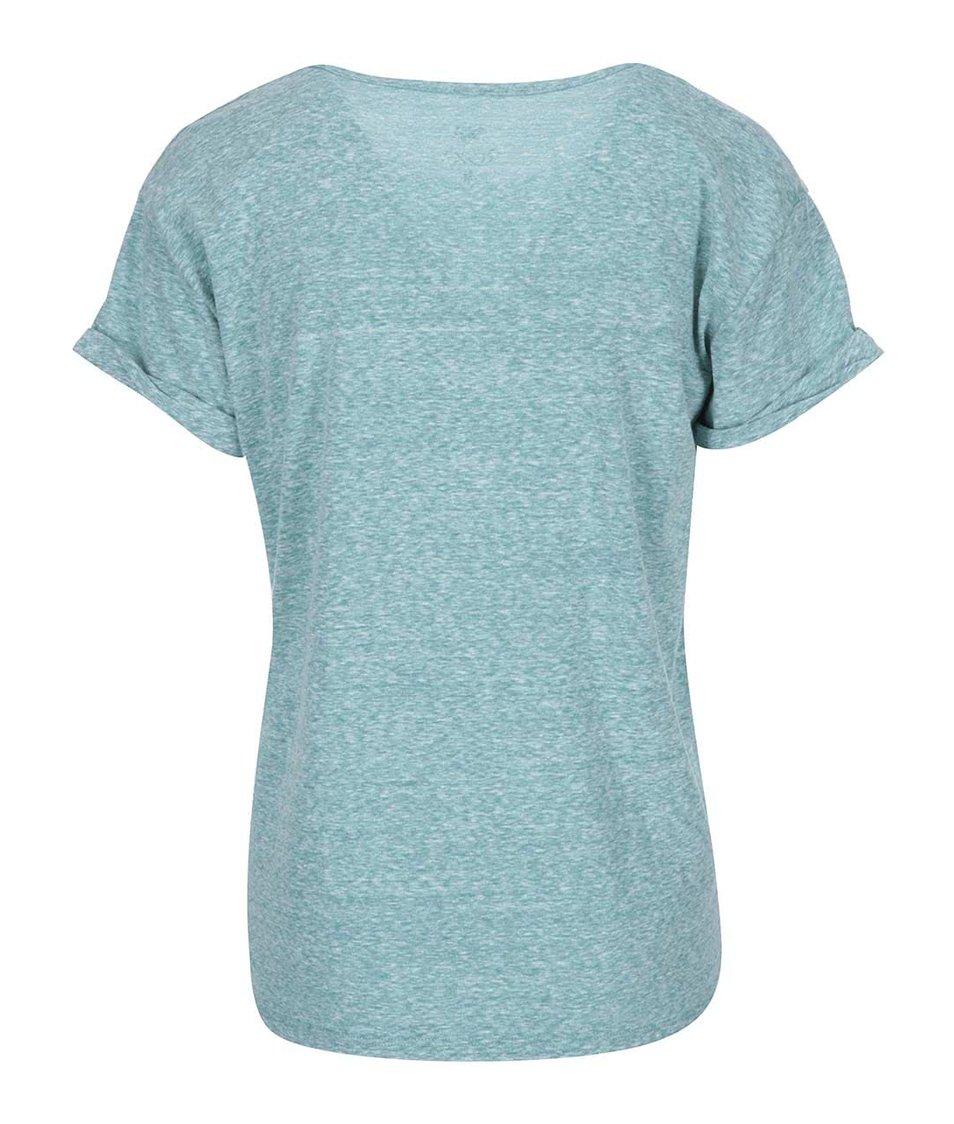 Modré žíhané tričko s potiskem Roxy Boyfriend