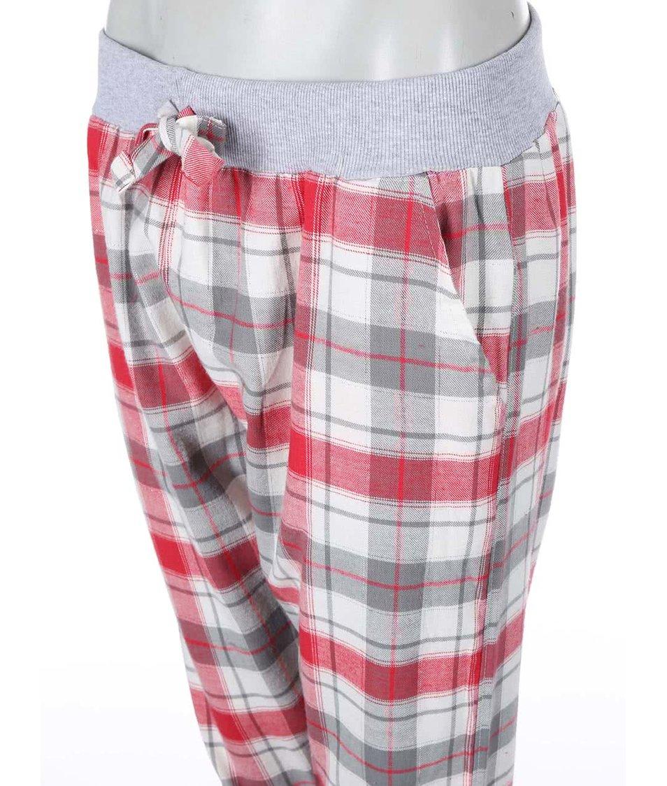 Červené kárované domácí kalhoty Dorothy Perkins