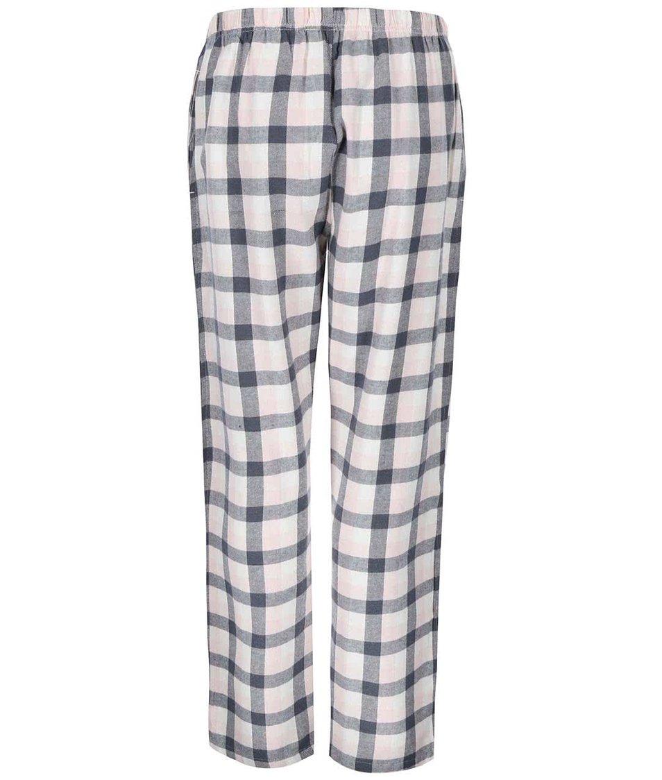 Růžové kárované domácí kalhoty Dorothy Perkins