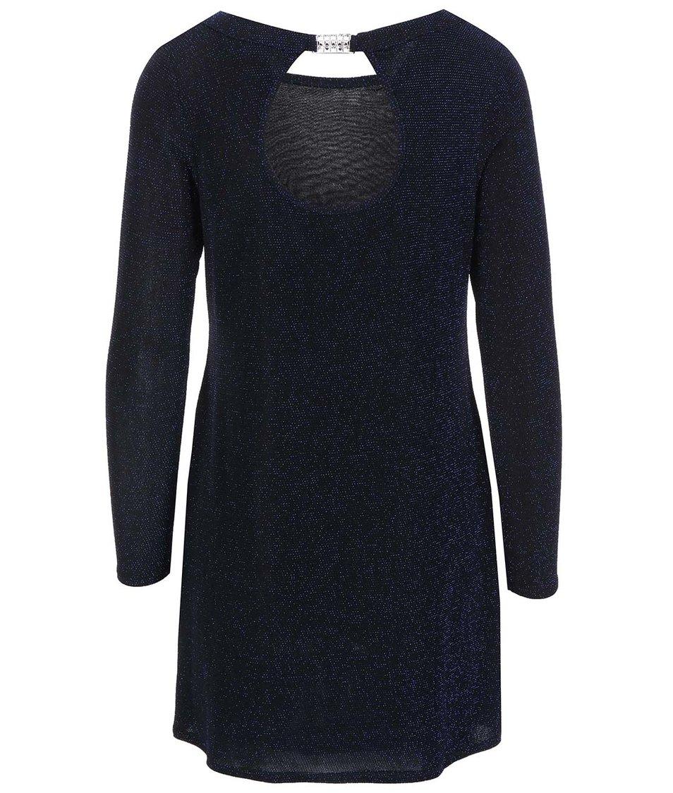 Černé šaty s modrými odlesky Dorothy Perkins