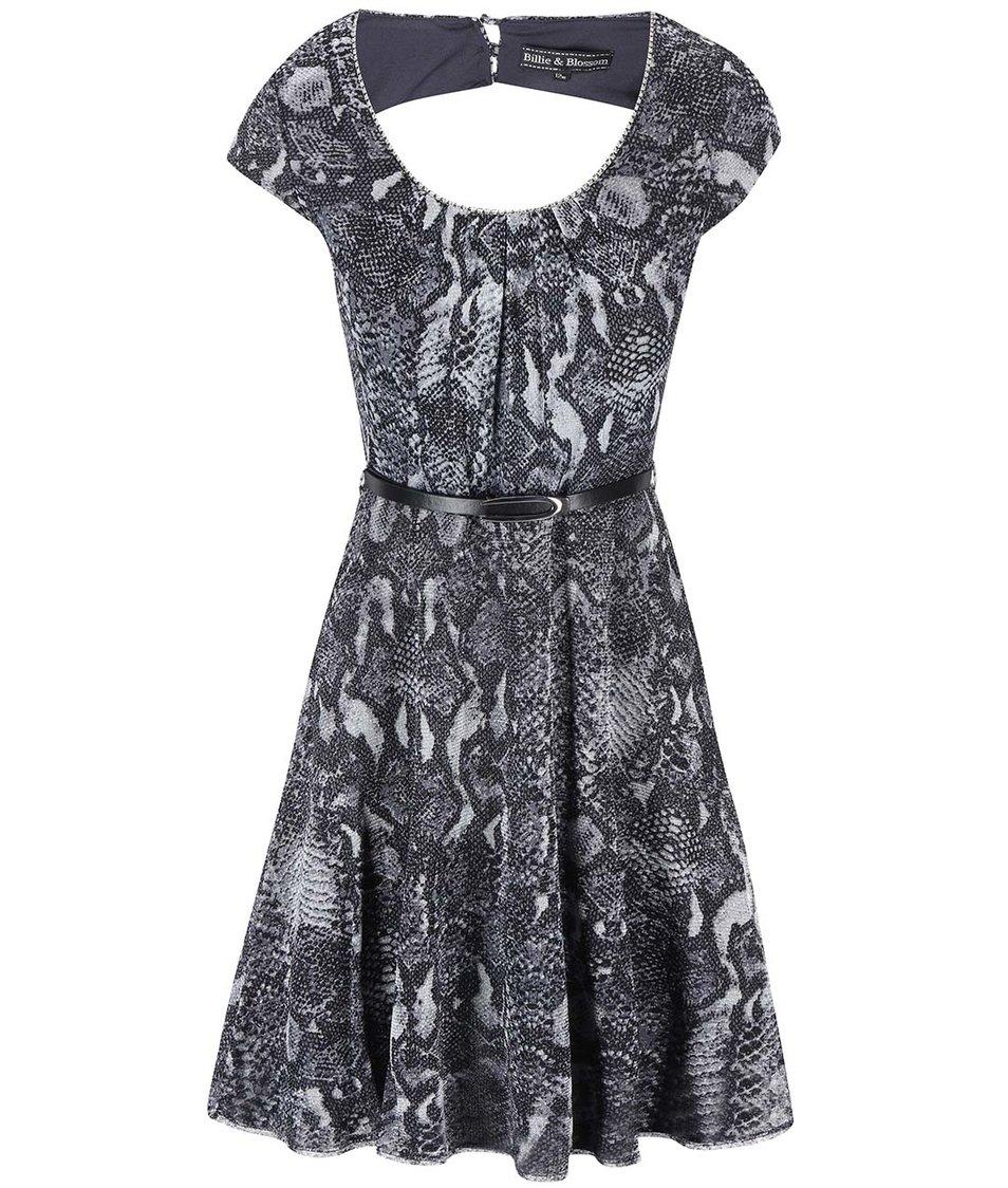 Šedé vzorované šaty s hadím vzorem Dorothy Perkins