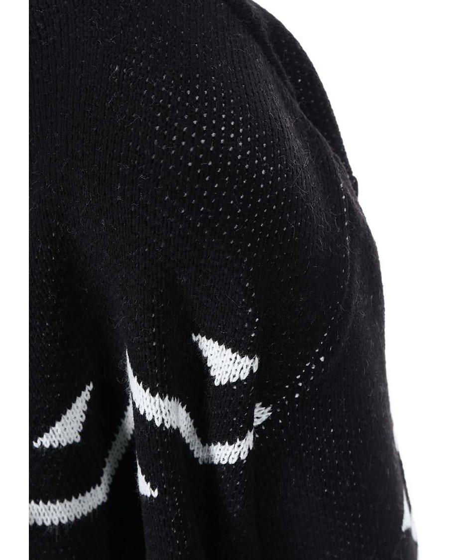 Černý cardigan s aztéckým vzorem Dorothy Perkins