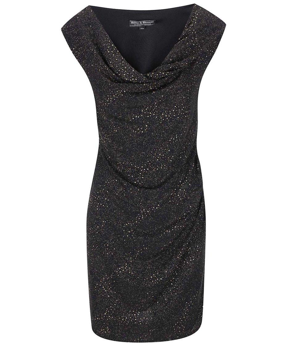 Černé šaty se třpytivými detaily Dorothy Perkins