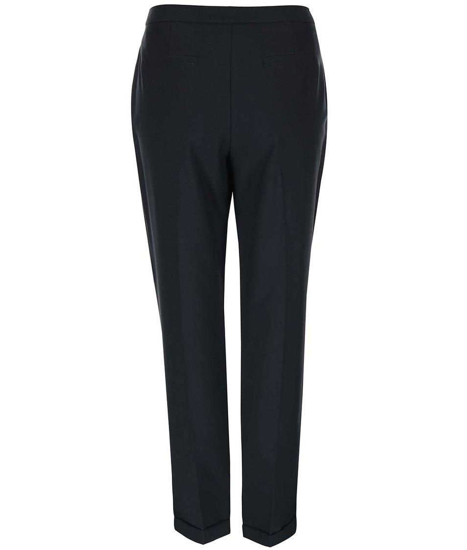 Černé formální volnější kalhoty s puky Dorothy Perkins