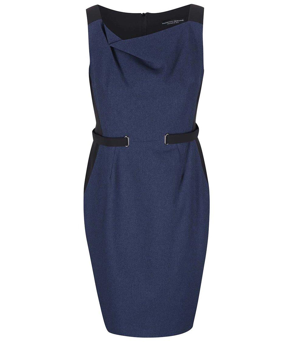 Černo-modré pouzdrové šaty Dorothy Perkins