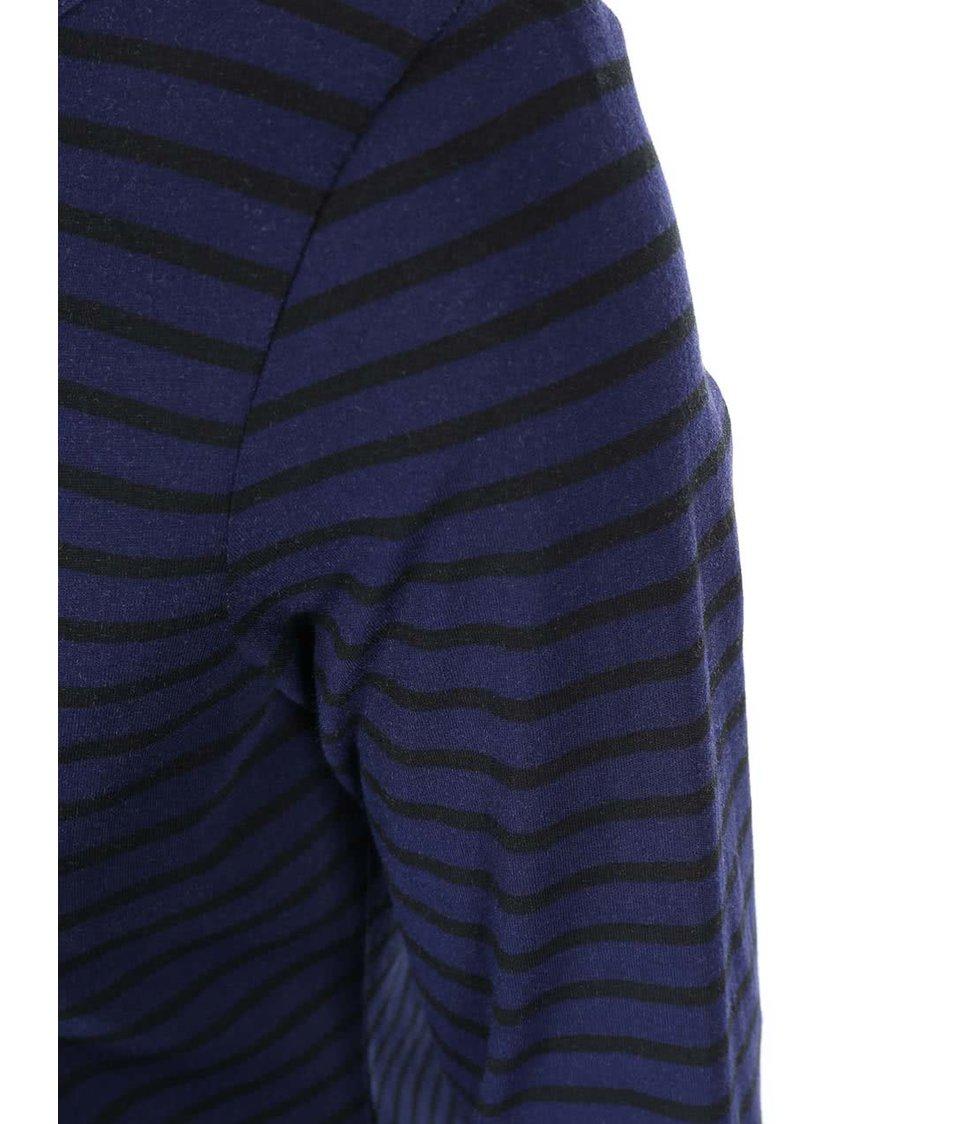 Černo-modré pruhované tričko s 3/4 rukávem Dorothy Perkins