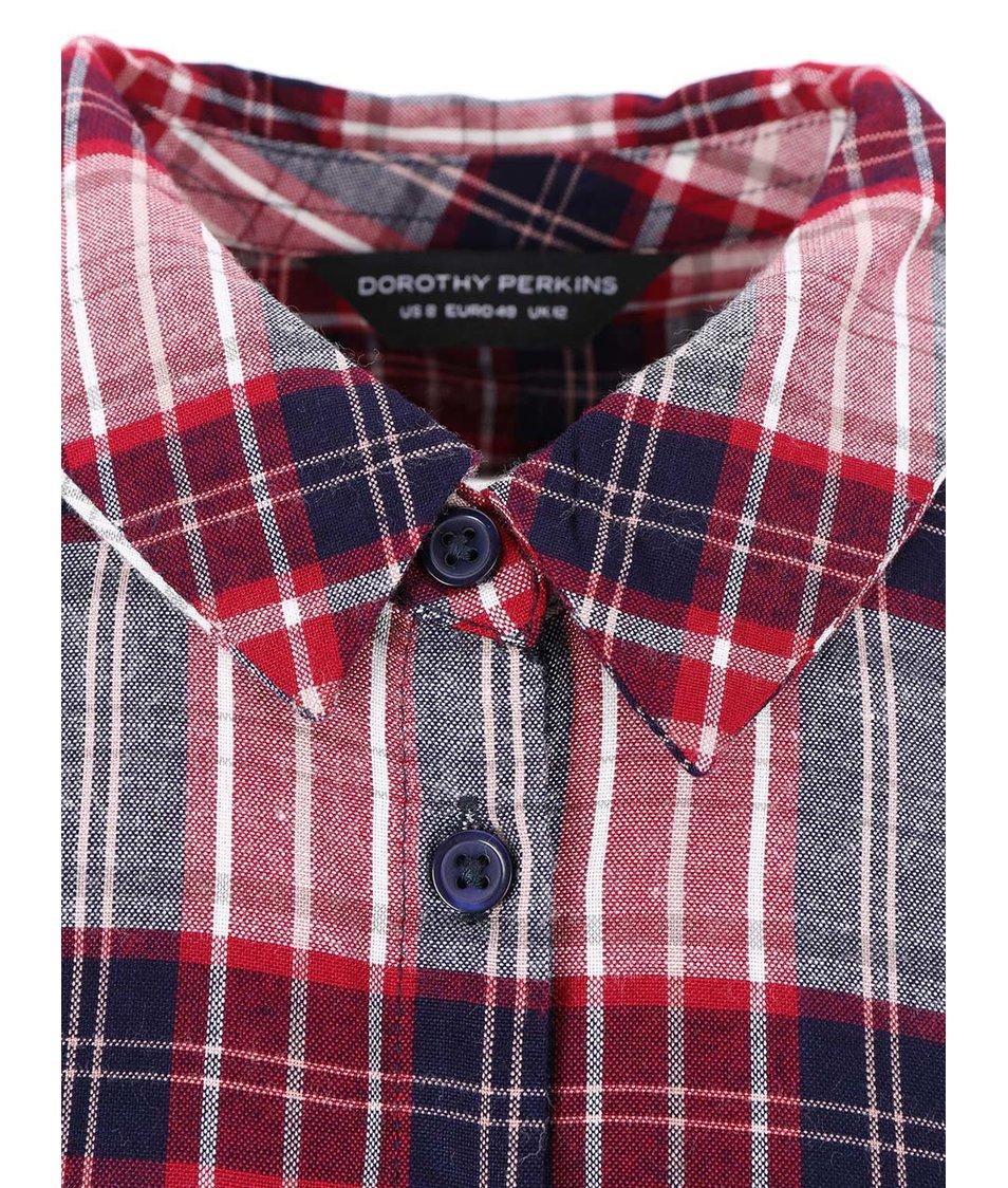 Modro-červená károvaná košile Dorothy Perkins