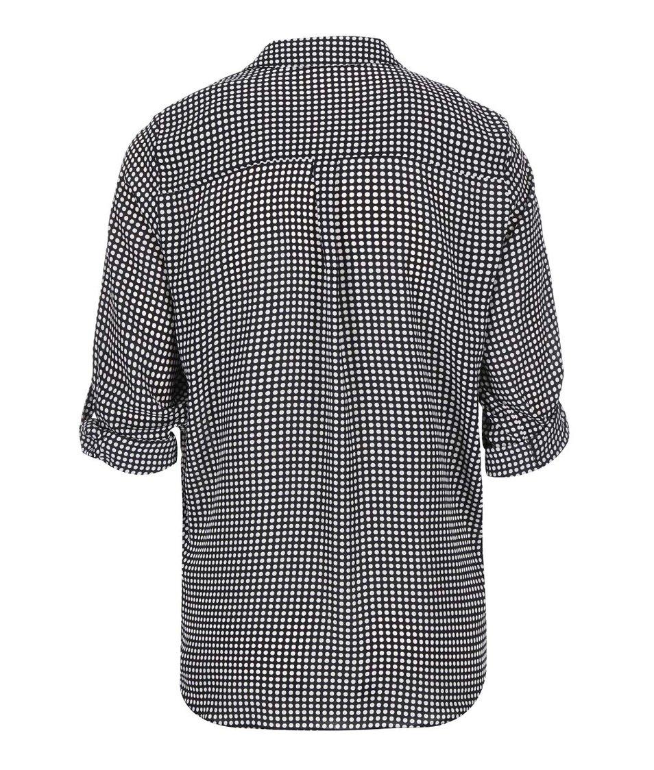 Bílo-černá puntíkovaná košile Dorothy Perkins