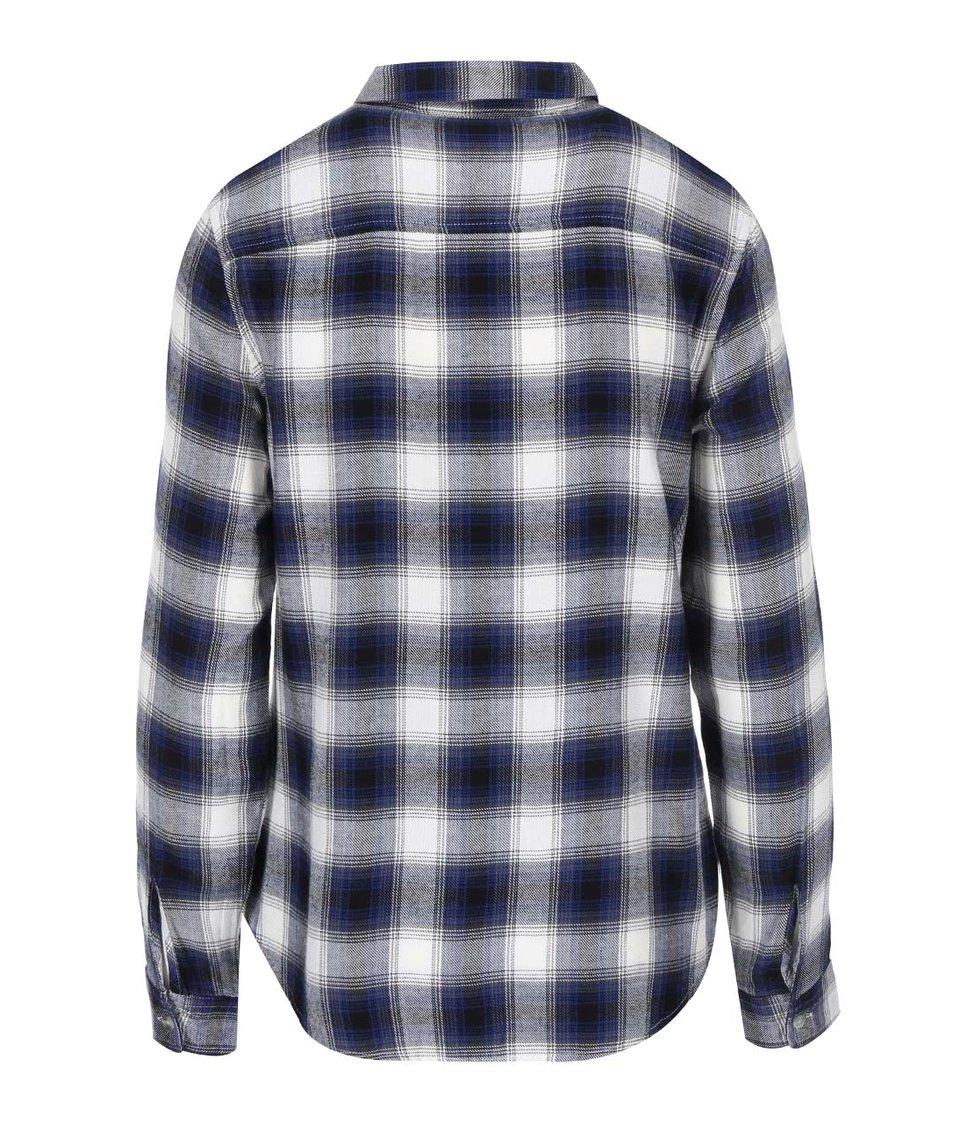 Krémovo-modrá károvaná košile Dorothy Perkins