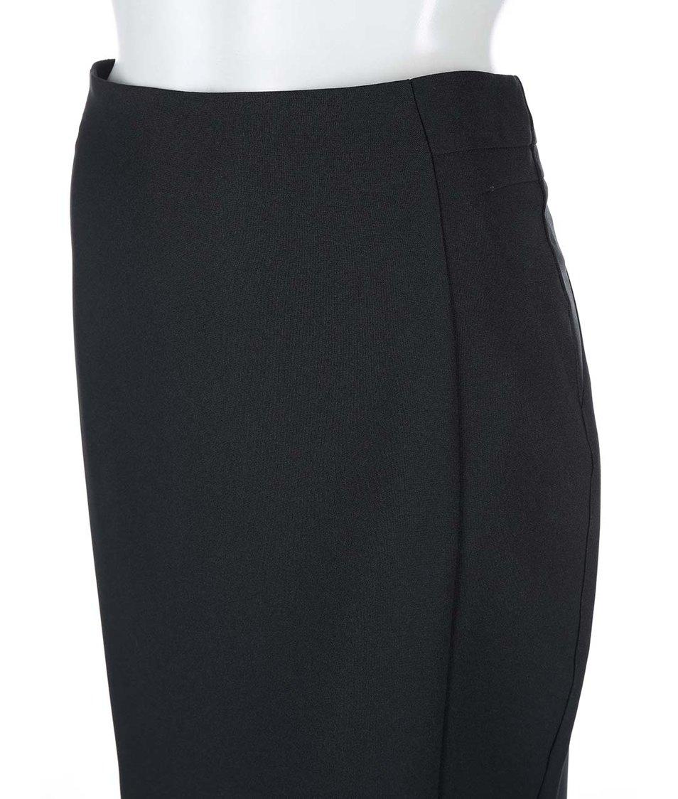Černá pouzdrová sukně do pasu Dorothy Perkins