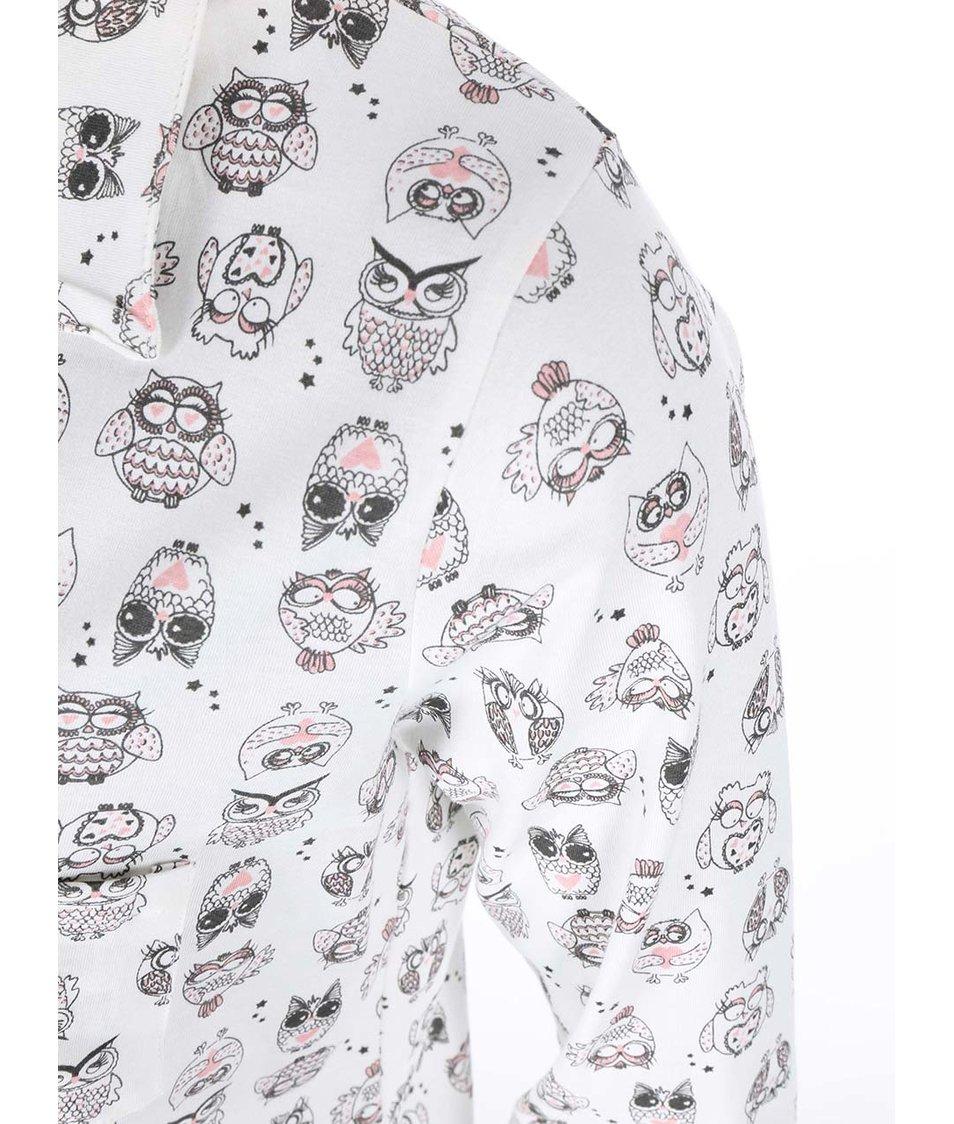 Krémové pyžamo se sovičkami Dorothy Perkins
