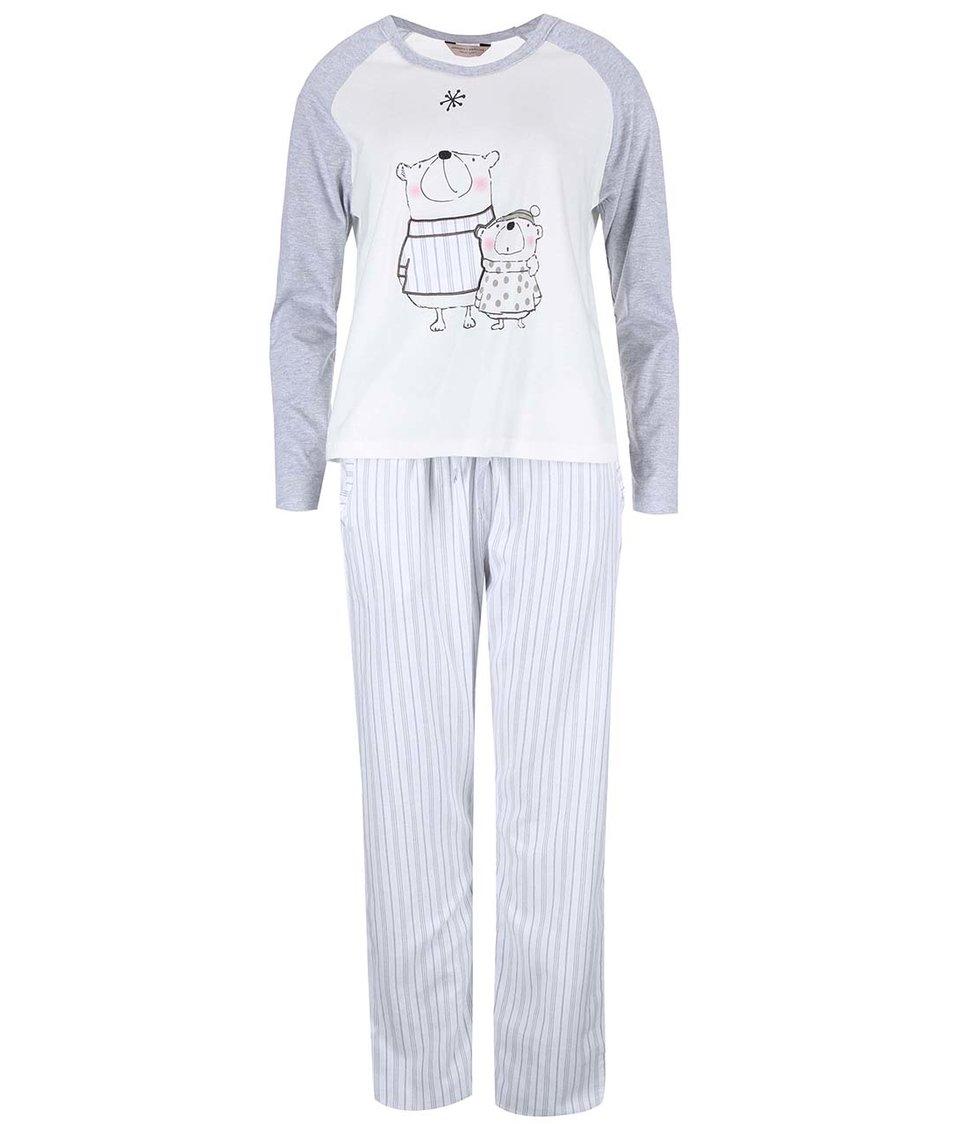 Šedo-krémové pyžamo s ledními medvědy Dorothy Perkins