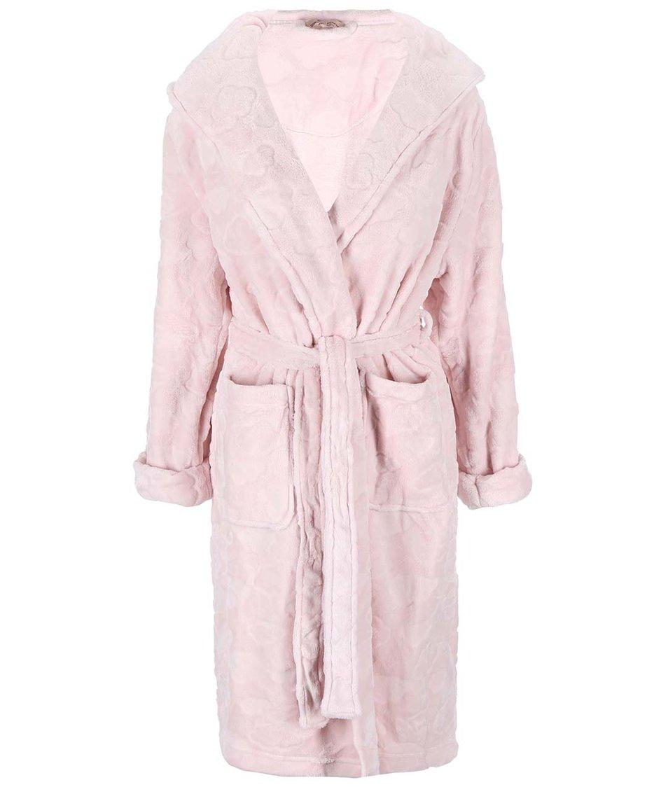Světle růžový župan se vzorem obláčků Dorothy Perkins