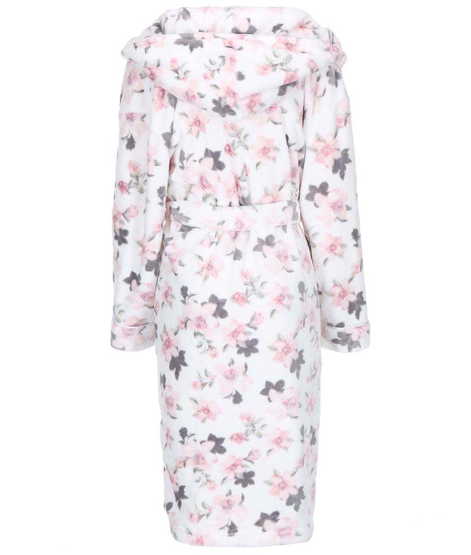 Krémový župan s růžovými květy Dorothy Perkins