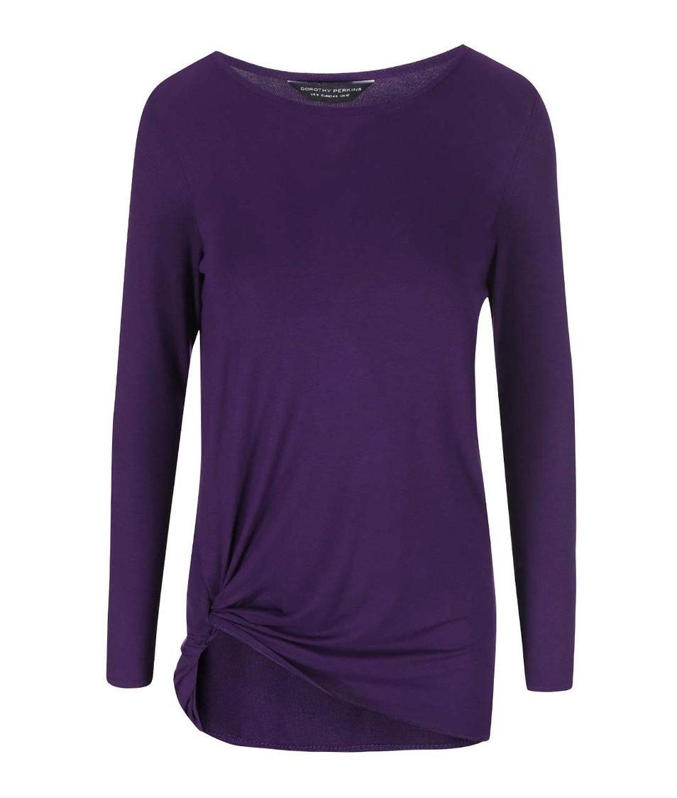Fialové tričko s dlouhým rukávem Dorothy Perkins