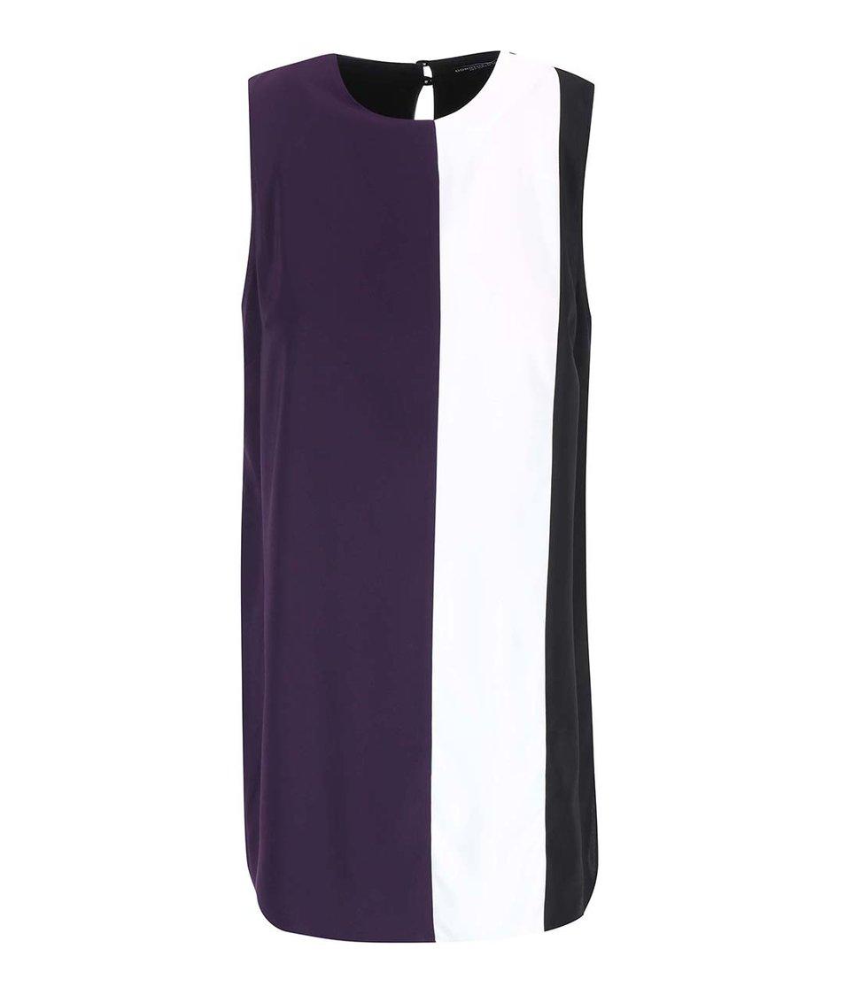 Černo-bílo-fialová tunika Dorothy Perkins