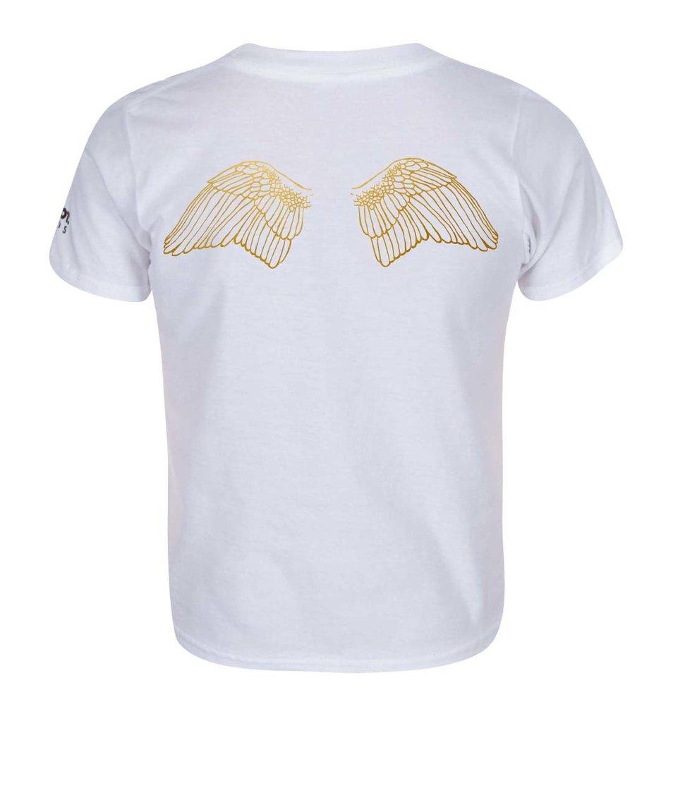 Bílé holčičí tričko ZOOT Kids Křídla
