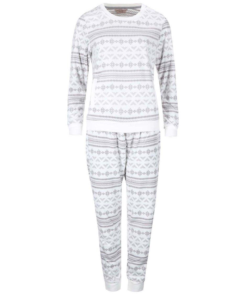 Šedo-krémové pyžamo s norskými vzory Dorothy Perkins
