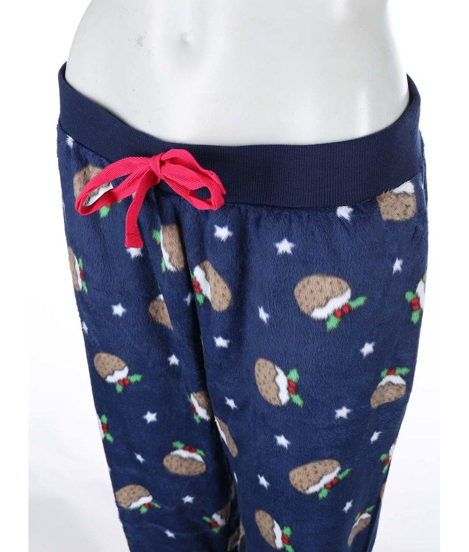 Tmavě modrý vánoční komplet mikiny a kalhot Dorothy Perkins