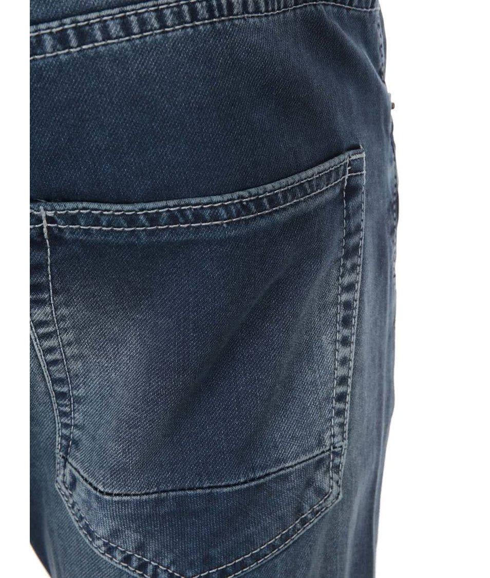 Tmavě modré hladké džíny s ošoupaným efektem !Solid Roy