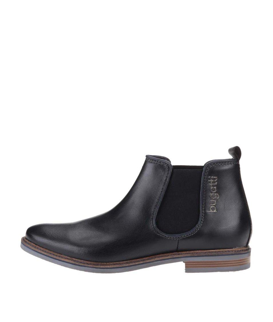 Černé pánské kožené chelsea boty bugatti Vanity