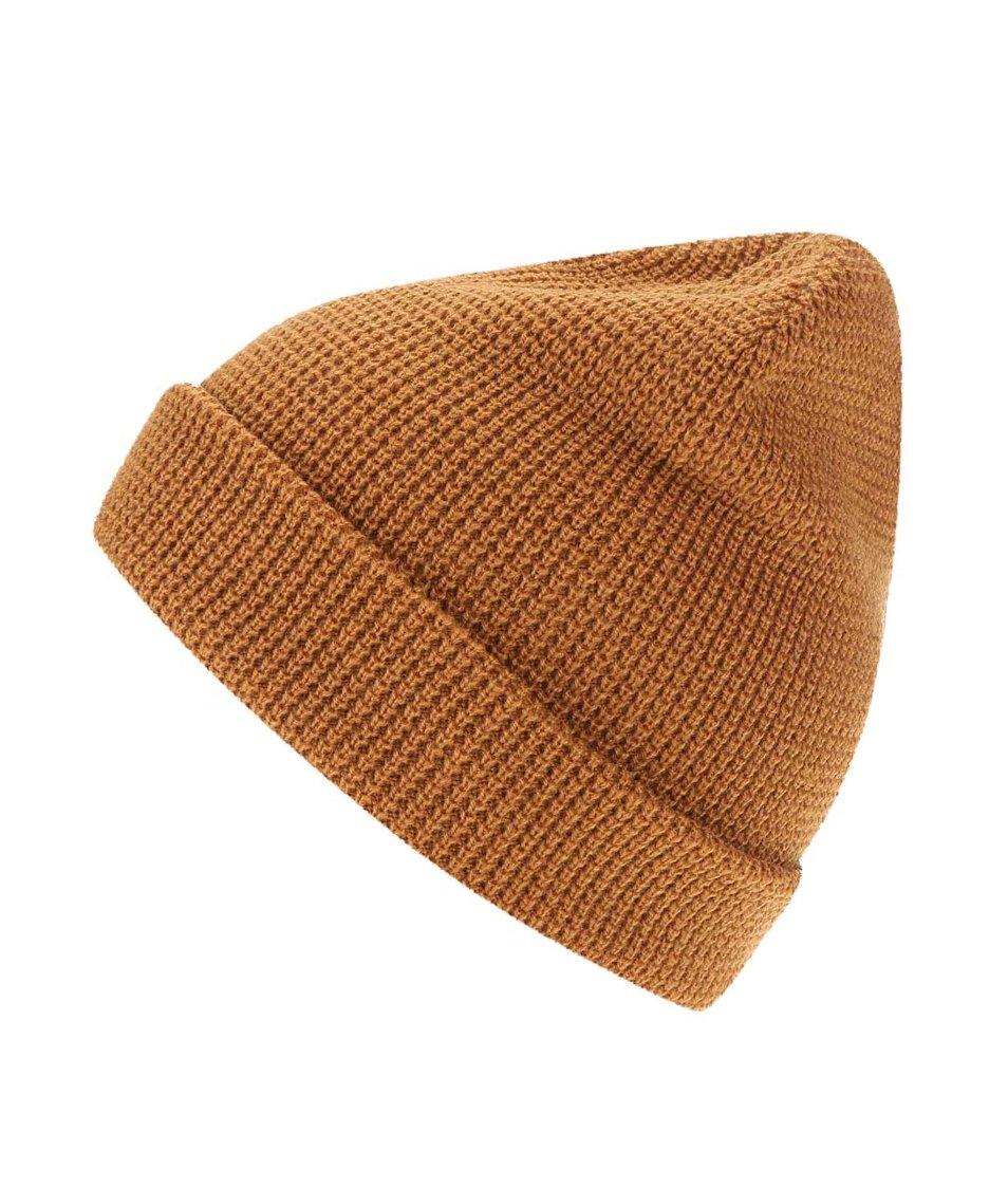 Hnědá pánská čepice s logem Rip Curl Wetsuits