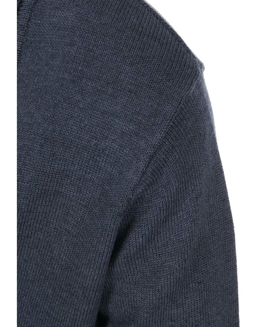 Tmavě modrý pánský cardigan !Solid Robley