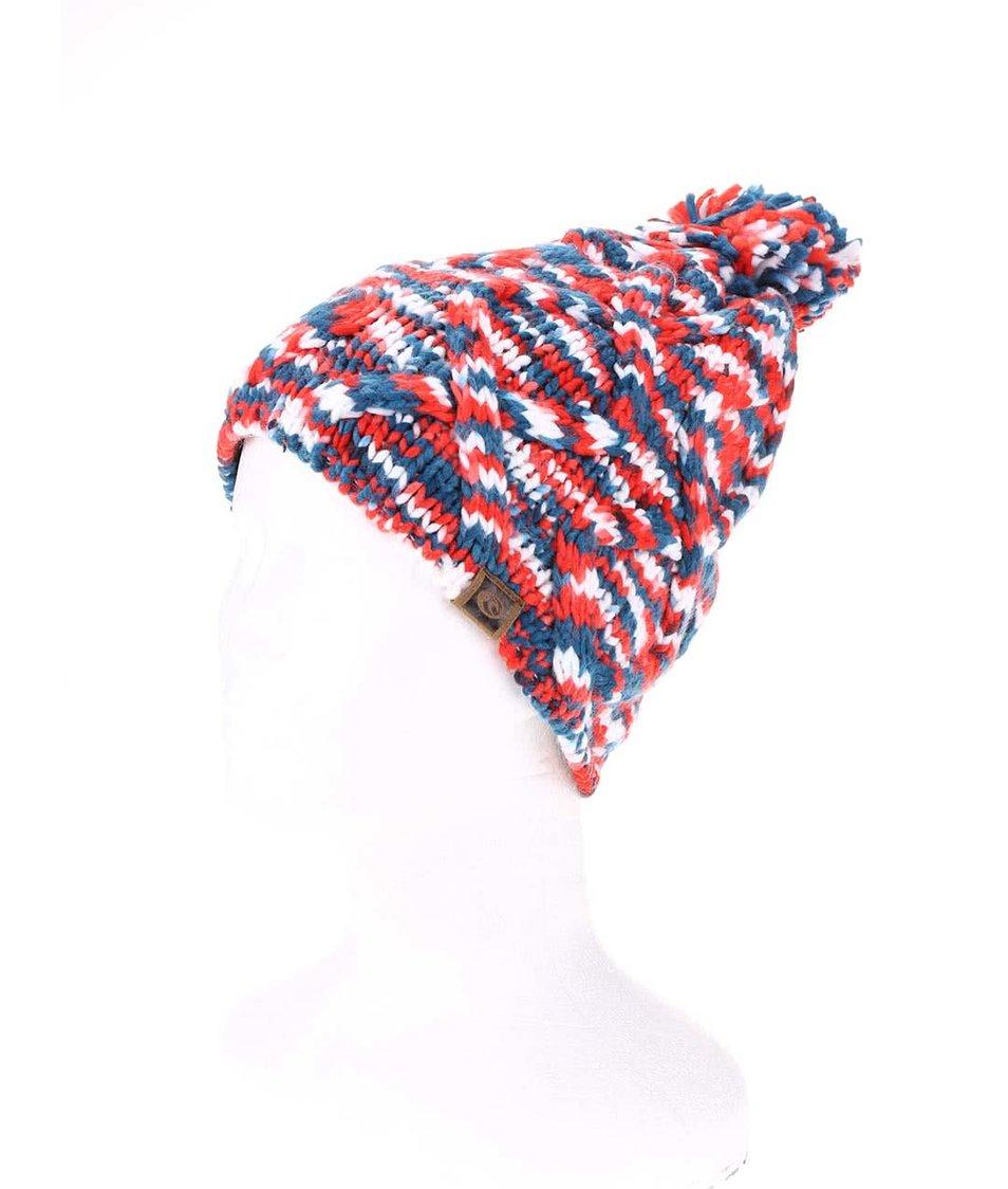 Modro-červená dámská pletená čepice Rip Curl Neottie