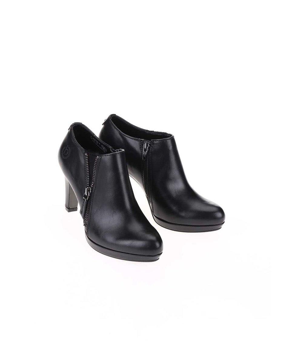 Černé boty na podpatku bugatti Haven
