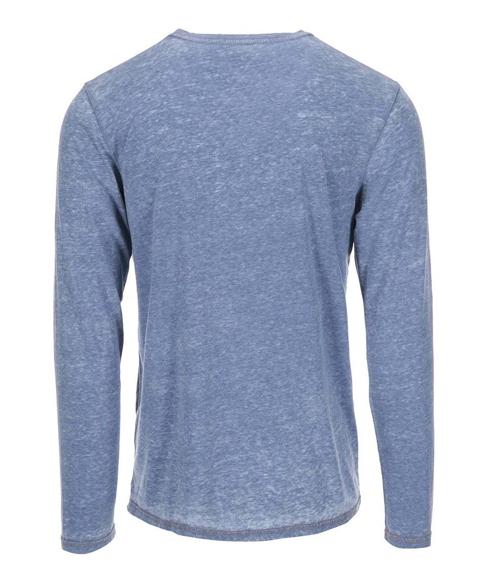 Modré žíhané triko s dlouhým rukávem !Solid Taiki