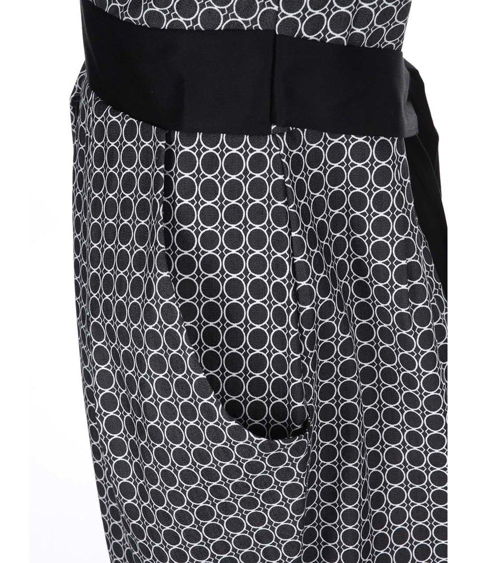 Bílo-černé vzorované šaty s mašlí Closet