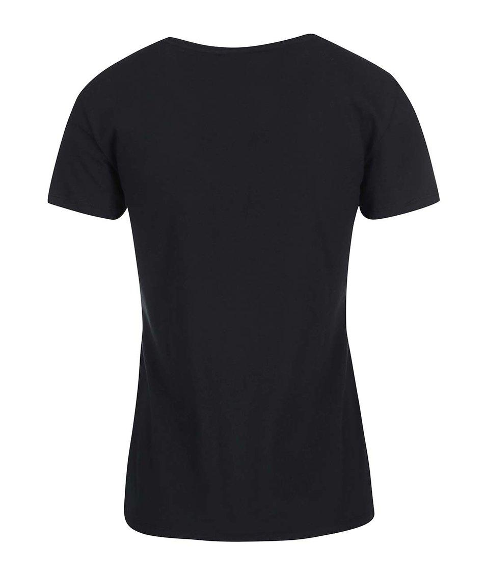 Černé dámské tričko s logem adidas Originals Moscow