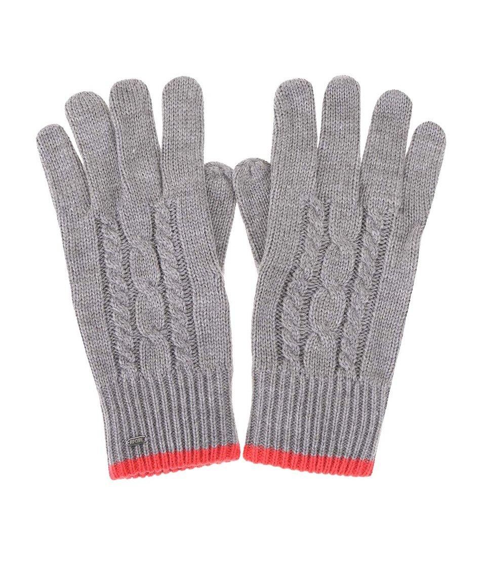 Šedé dámské rukavice s červeným lemem Rip Curl Rooney