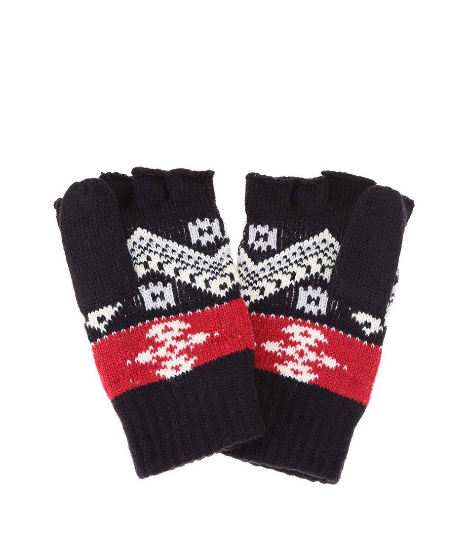 Černé dámské rukavice s barevným vzorem Rip Curl Zairo
